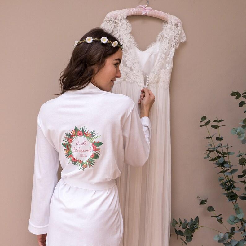 2c8cd8dc9af Bridal Party Robe Tropical Wedding Destination Wedding | Etsy