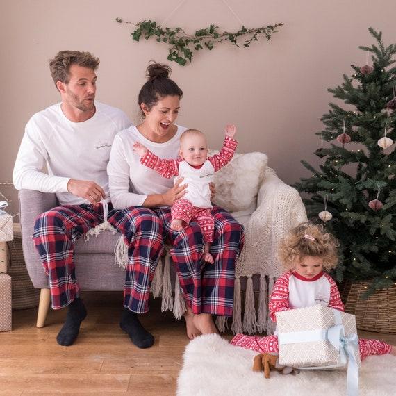 Christmas Family Pajamas Set.Family Christmas Pyjamas Family Pajamas Personalised Christmas Family Pyjamas Family Name Pyjamas Embroidered Family Pyjamas