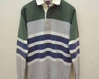 c953eb45ddd Vintage Eddie Bauer Long Sleeve Rugby T Shirt Outdoor Gear Swag Hip Hop Top  Tee Size L