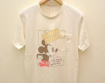 0fa9951e9 Vintage Mickey Mouse Cartoon Shirt Street Wear Funny Funky Top Tee Size L