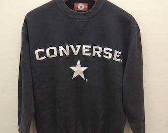 0428f8781093a Vintage Converse All Star Big Logo Chuck Taylor Sweatshirt   Etsy