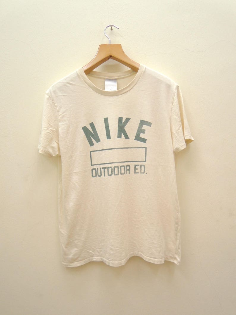 d6dacc786f0a1 Vintage Nike Outdoor Big Logo Sport Shirt Streetwear Punk Rock Tops Tee T  Shirt Size XL