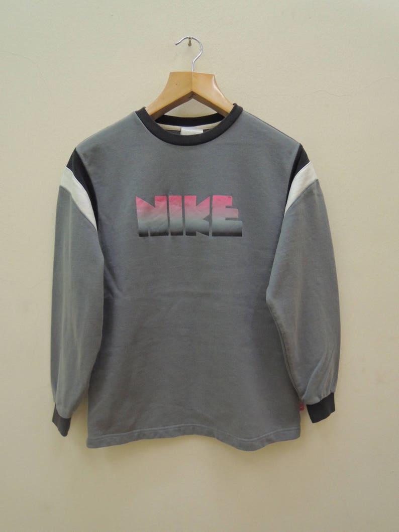 da82233cf4c56 Vintage Nike Big Spell Out Logo Sweatshirt Swag Hip Hop Streetwear Sport  Sweater Size L