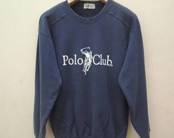 Vintage Polo Club Sweatshirt Pull Over Urban Fashion Size L