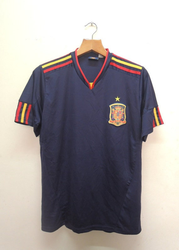 Vintage Spain Football Jersey World Cup Sport Shir