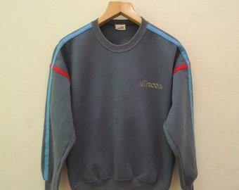 Vintage Ellesse Sweatshirt Pull Over Sport Sweater Urban Fashion