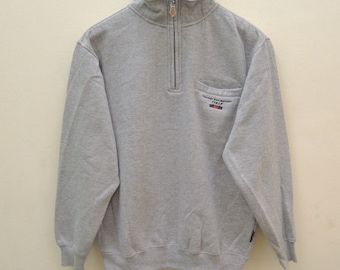 Vintage Gianni Valentino Minimalist Logo Sweatshirt Pull Over Sport Sweater Urban Fashion Size L