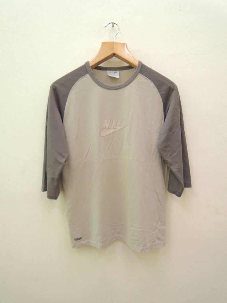 0a710448f81ad Vintage Nike Big Spell Out Logo Sport Long Sleeve Shirt Streetwear Punk  Rock Tops Tee T Shirt Size S