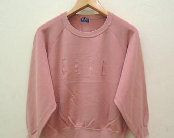 Vintage ELLE Paris Sweatshirt Pull Over Street Wear Swag Top Tee Fashion