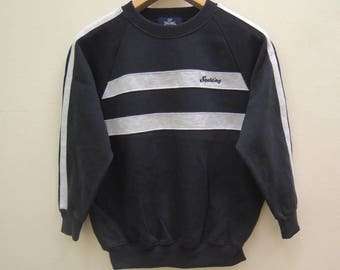 Vintage Spalding Minimalist Logo Sweatshirt Pull Over Swag Hip Hop Streetwear Sport Size 160