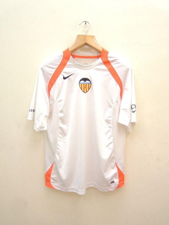 Vintage Nike Valencia CF Football Jersey Sport Shi