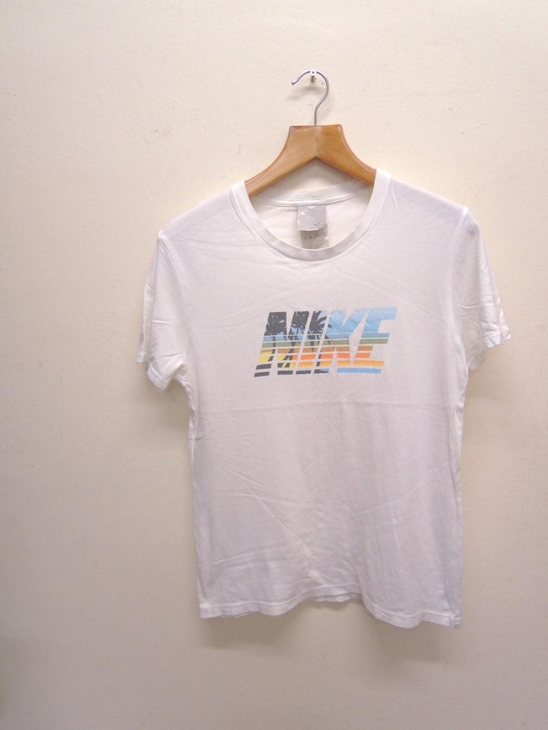 cd6a740e1cb65 Vintage Nike Big Logo Sport Shirt Streetwear Punk Rock Tops Tee T Shirt  Size M