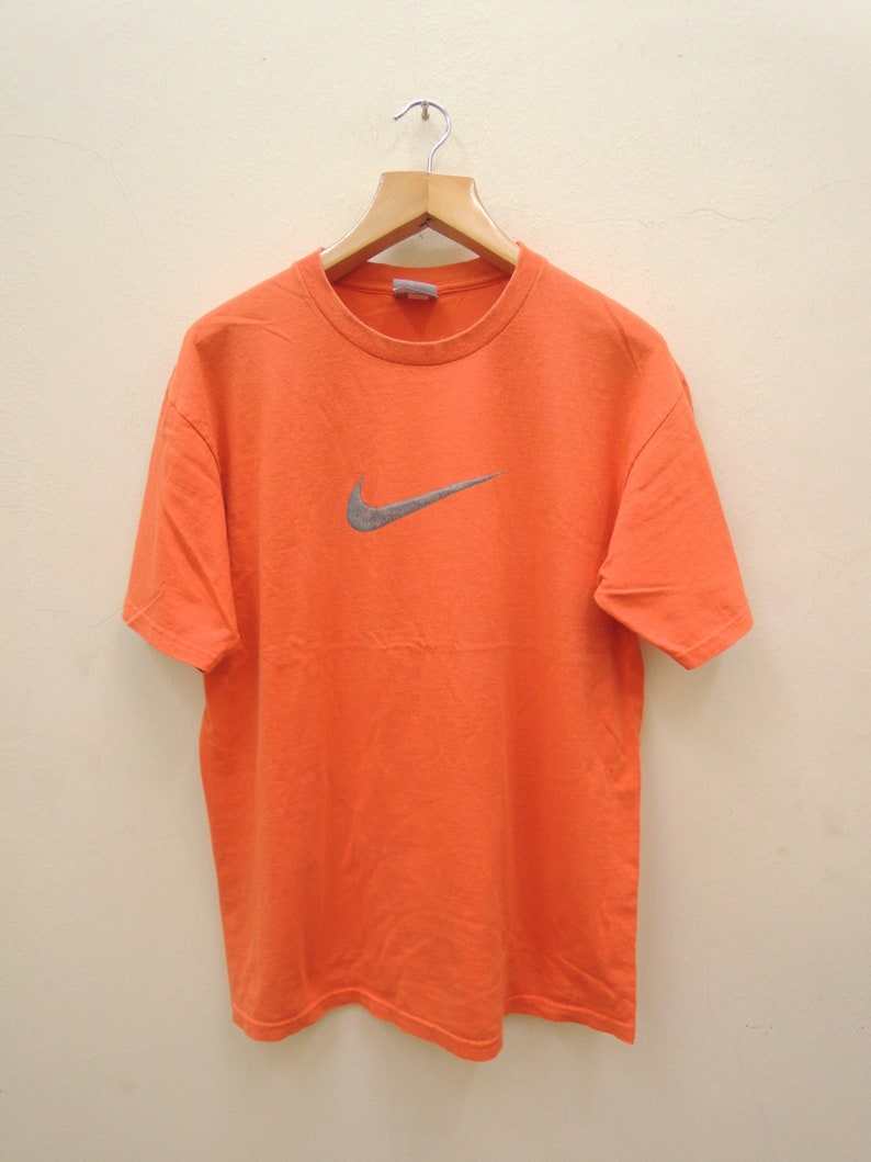 e4c7ca500923a Vintage Nike Big Logo T Shirt Sport Street Wear Swag Hip Hop Top Tee Punk  Rock Size M