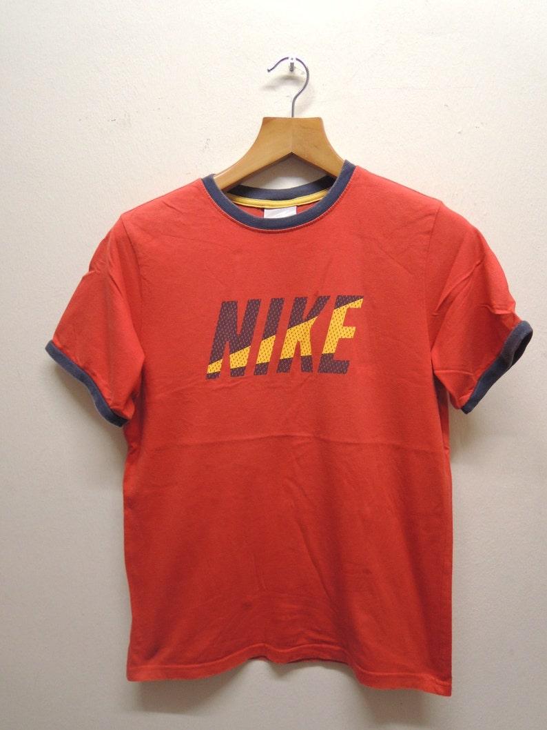 e980037c84cbc Vintage Nike Big Logo Swag Punk Hip Hop Streetwear Sport Punk Rock Tops &  Tee T Shirt Size L