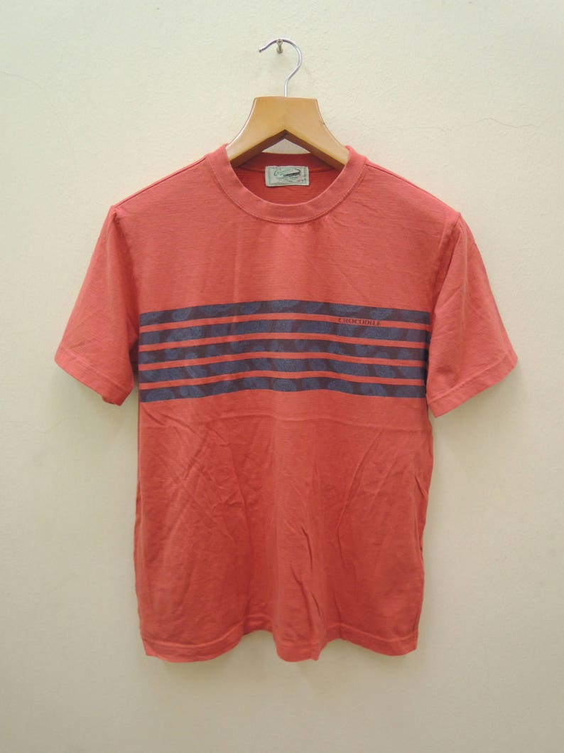 09bf72a0d344a Vintage Crocodile Lacoste Chemise Sport T Shirt Short Sleeves Golfer  Vintage Fashion Shirt Size M