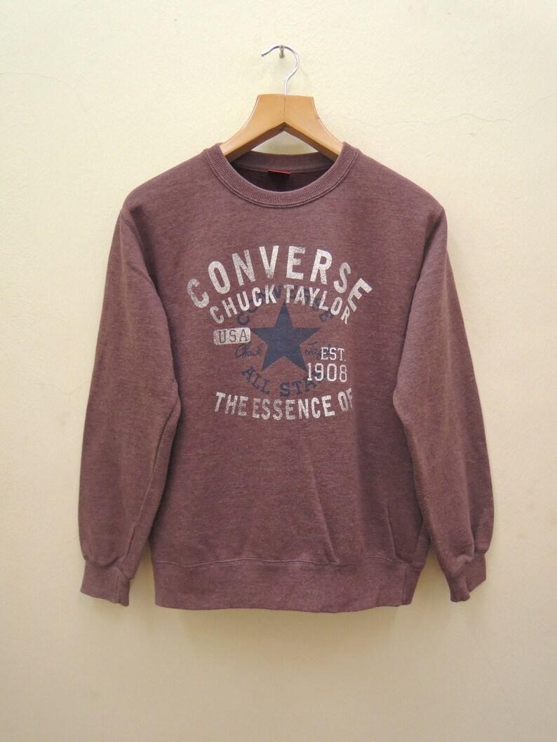 6f74b2195415f Vintage Converse All Star Chuck Taylor Sweatshirt Sport Street Wear Skate  Size M