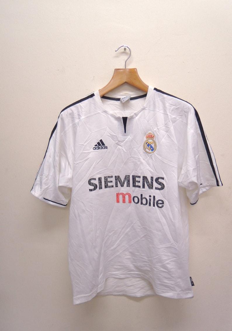 newest b8bfd 7f43c Vintage Adidas Real Madrid La Liga Jersey T Shirt Sport Top Tee Size M