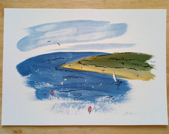Dawlish Warren - Devon painting print