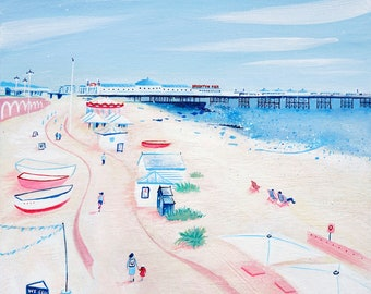Brighton beach art print - 'We sell ice cream'