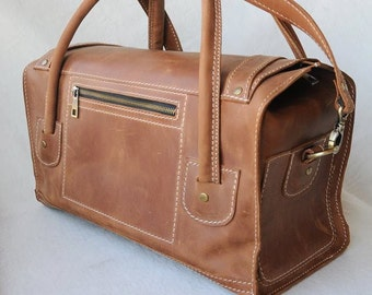 Leather travel Bag, Leather Duffle Bag, Weekend bag, Gym bags for men, Travel luggage, Travel bag, Leather weekend bag