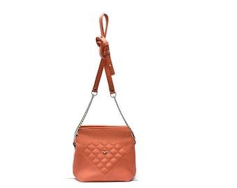 Leather handbag.  Leather bag women. ladies evening bag.  Leather shoulder bag. Crossbody leather bag. Handmade. leather small bag.