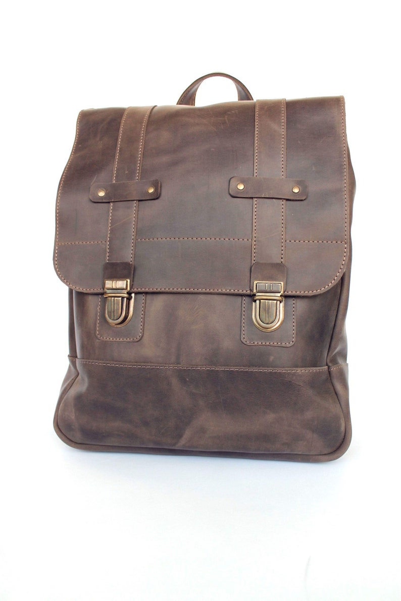 Leather Backpack School Backpack Mens Backpack Woman Etsy