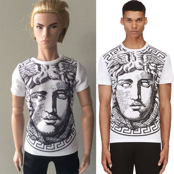 24b7299f miniature of Versace t-shirt for Fashion RoyaltyKen and 1/6 | Etsy