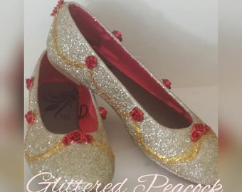 Beauty And The Beast Shoes Etsy