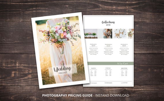 Photography Price List Template Pricing Sheet Guide
