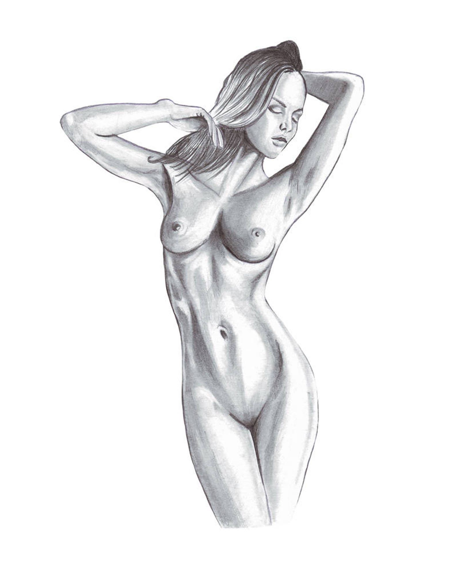 Young Nude Girls Drawings