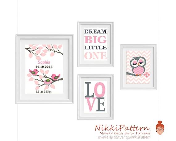 Set Disney Princesses Cross Stitch Pattern PDF Baby Modern Counted Cross Stitch Chart Cute Nursery Decor Silhouette Embroidery Download PDF
