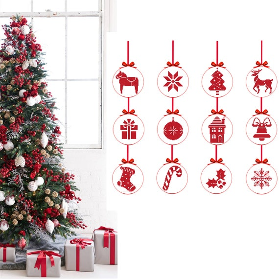 Etsy Christmas Ornaments.Christmas Cross Stitch Pattern Set Merry Christmas Ornaments Christmas Tree Modern Counted Cross Stitch Deer Cross Stitch Holiday Pattern