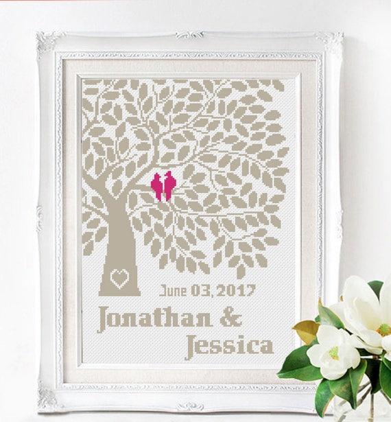 Wedding Ornate Mr and Mrs Love Cross Stitch Pattern