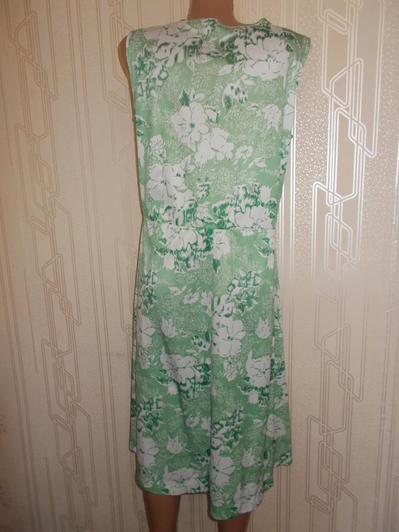 Women/'s Clothing Day Dress Soviet Union USSR US Size 14 EU 46 Russian Fashion Vintage Retro Denim Summer Dress Vintage green 1970 Dress
