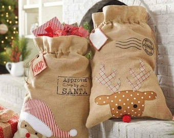 sale wholesale burlap santa bags wholesale santa sacks blank items wholesale reindeer bag - Burlap Christmas Decorations Wholesale