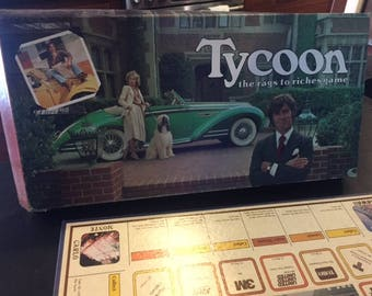 Vintage Tycoon board game 1981 Wattson Games complete the rags to riches game