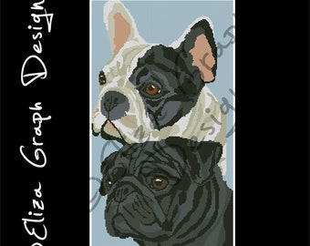Custom Collage with 2 of my patterns Dog, Horse, Cat, Pet CROSS STITCH Pattern, CROCHET Graphghan Blanket Pattern