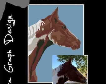 Custom Horse CROSS STITCH Pattern, CROCHET Graphghan Blanket Pattern