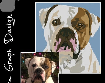 Custom Dog CROSS STITCH Pattern, CROCHET Graphghan Blanket Pattern