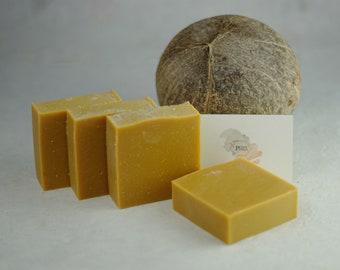 Mango Coconut Dream Soap - Coconut Milk Soap - Essential Oils - Natural Soap - Eco Friendly - No Waste - Gift - Vegan - Real Fruit Soap -