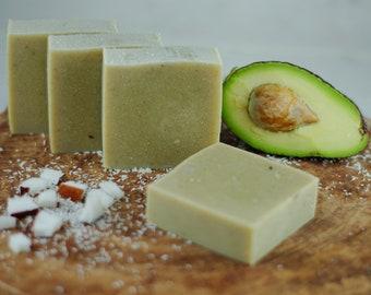 Avocado Coconut Milk Soap - Coconut Milk Soap - Essential Oils - Natural Soap - Eco Friendly - No Waste - Gift - Vegan - Real Fruit Soap -