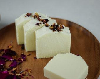 Mediterranean Rose Salt Spa Bar - Handmade Salt Soap - Vegan Soap - Natural Soap - Eco Friendly - No waste - Rose Oil Soap - Rose Spa Soap
