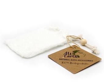 Bamboo Soap Bag - No waste - Shower Soap bag - Vegan soap bag - Soap washcloth