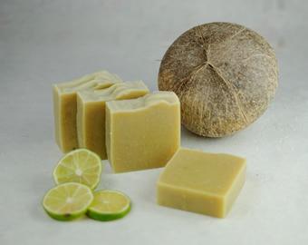 Pina Colada Soap - Coconut Milk Soap - Essential Oils - Natural Soap - Eco Friendly - No Waste - Gift - Vegan - Real Fruit Soap