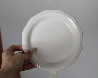 "Vintage 7"" Pfaltzgraff Heritage Salad Plate, White Salad Plate, Made In The USA, Listing for 1 Plate"