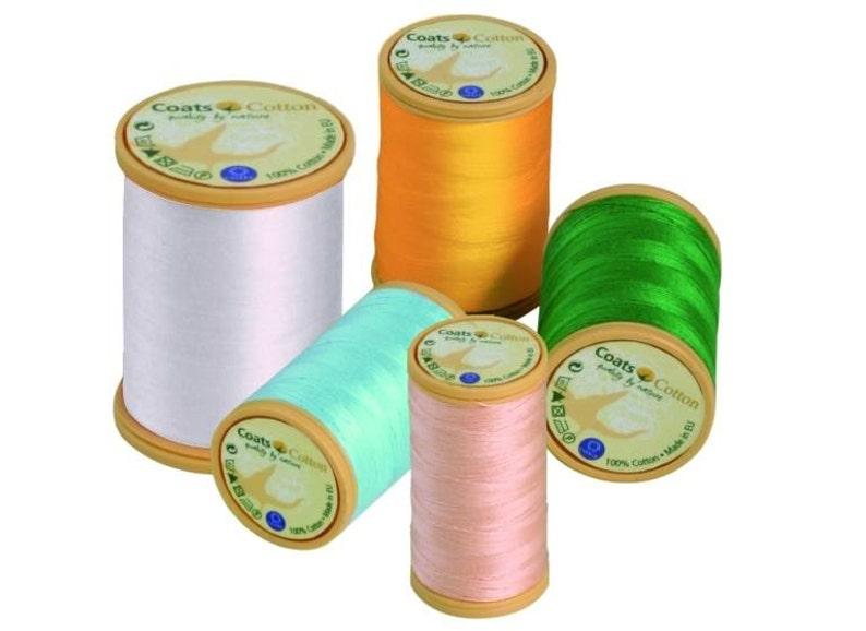 lustrous and smooth Coats Cotton thread mercerised 100m spool 50 ticket