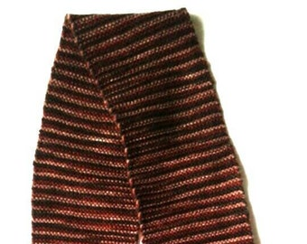 Beautiful warm hand-knit scarf