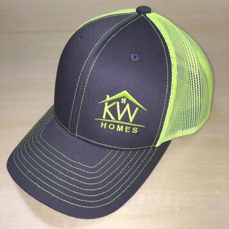 f558346cc Monogram Richardson Hat. Richardson Mesh Cap. Monogram Cap with Mesh  Backing.