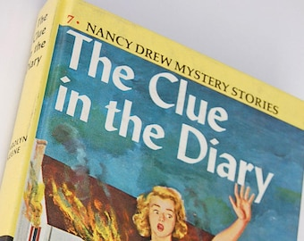 7 The Clue in the Diary Nancy Drew Mystery Stories by Carolyn Keene 1950s Detective Stories for Girls Mystery Series