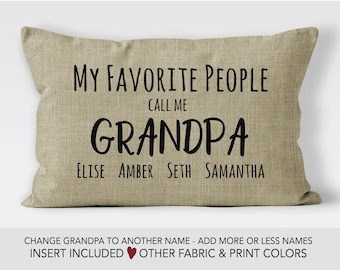 85097b0e My favorite people call me Grandpa | Personalized Grandpa Gift idea | Fathers  Day gift | grandpa pillow | my greatest blessings call me